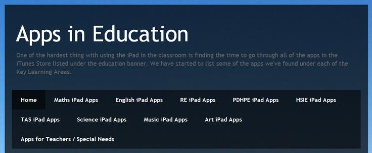 Apps in Education: http://appsineducation.blogspot.ca/