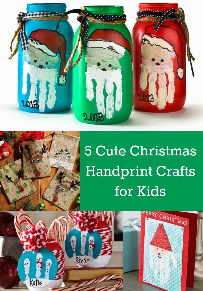 Handprints with paint are the perfect Christmas crafts for kids - here are all of the fun things you can make!