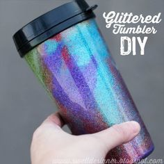 Crafts to Make and Sell - Glittered Tumbler DIY - Cool and Cheap Craft Projects and DIY Ideas for Teens and Adults to Make and Sell - Fun, Cool and Creative Ways for Teenagers to Make Money Selling Stuff to Make http://diyprojectsforteens.com/crafts-to-make-and-sell-for-teens