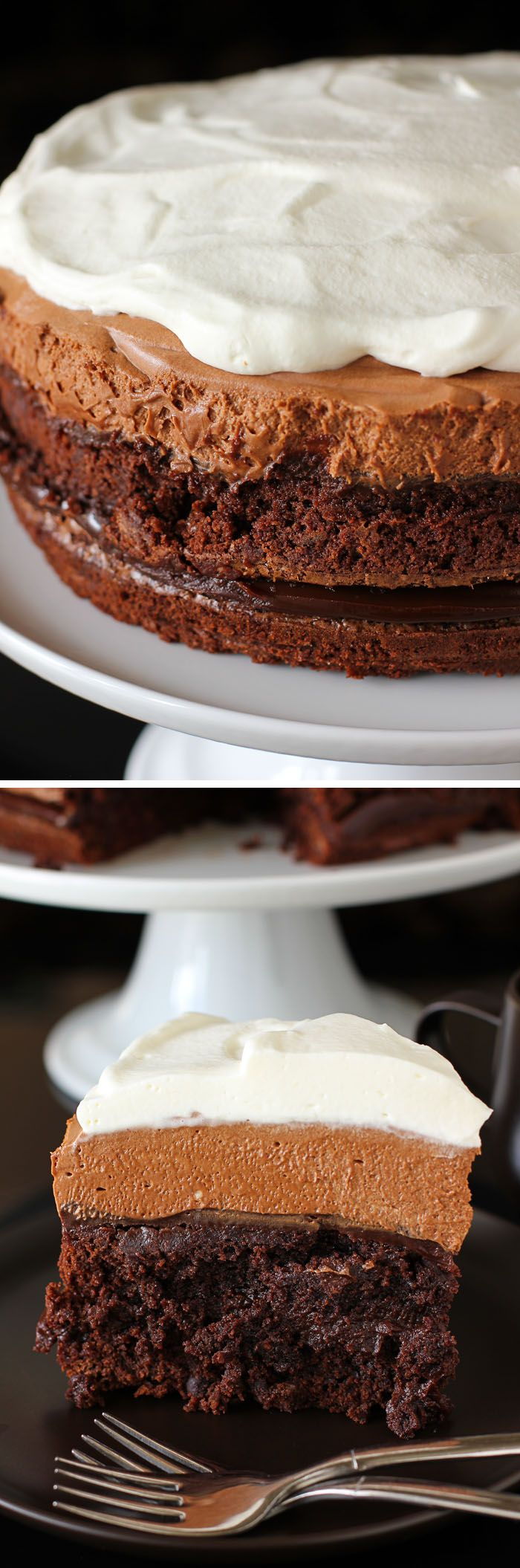 Brownie Blackout Mousse Cake Recipe