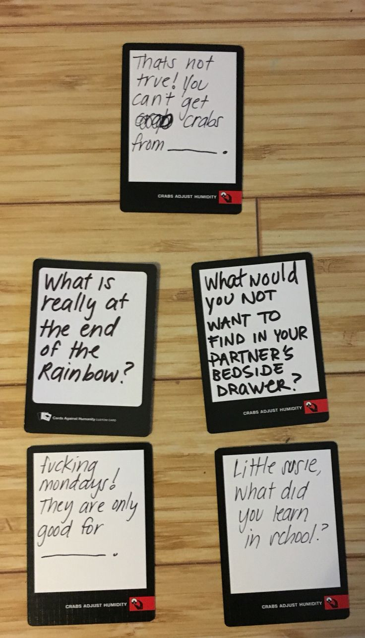 Funny ideas for cards of humanity blank cards