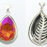 Astral Pink Swarovski crystal, excelsior white pendant