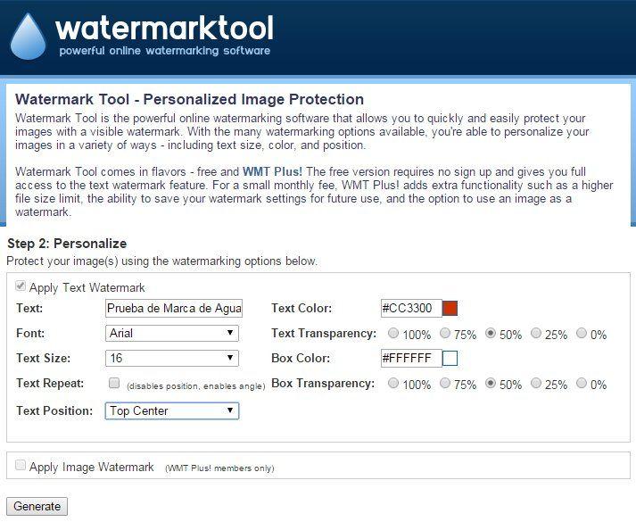 Protege tus imágenes con marcas de agua en forma fácil y rápida con WatermarkTool