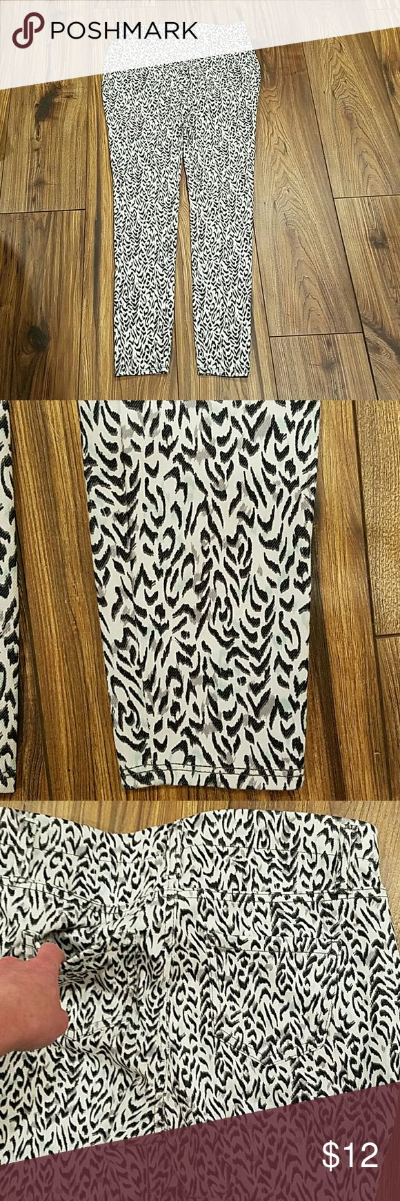 NWOTWhite zebra strip w blue/gray womens jeggings I never wore these has 2 pockets on the back as well as belt loops if u wanna wear a belt 30% OFF BUNDLES 2 ITEMS OR MORE AND DO A 3 ITEM BUNDLE CHOOSE $4 ITEM FREE MAKE ME A REASONABLE OFFER CHOOSE FREE $4 ITEM WITH ANY BUNDLE PURCHASE Other