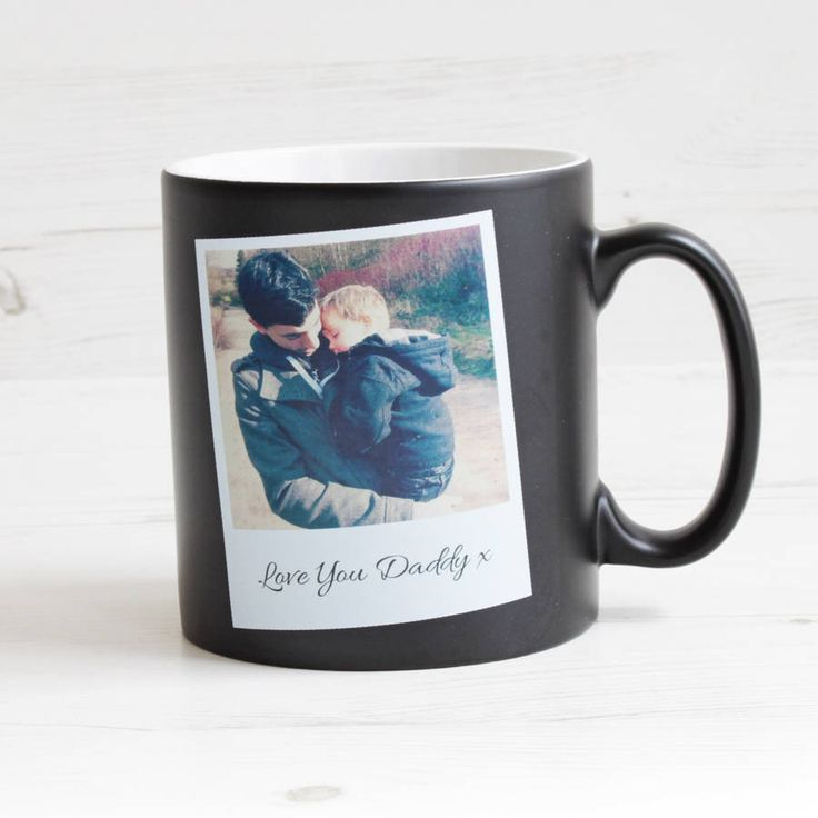 Personalised Photo Mug With Message £14