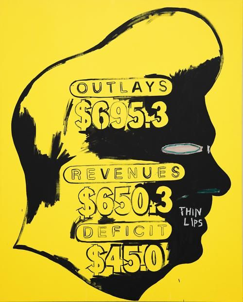 """Thin Lips"" Artwork by Andy Warhol & Jean-Michele Basquiat"