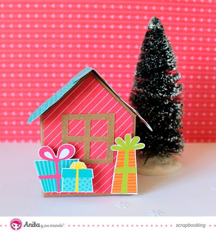 decoración navideña: casita de papel paso a paso                              …