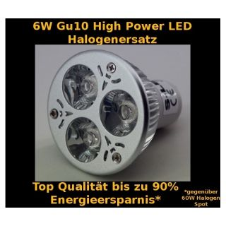 6W High Power LED Spot Gu10 Warmweiß