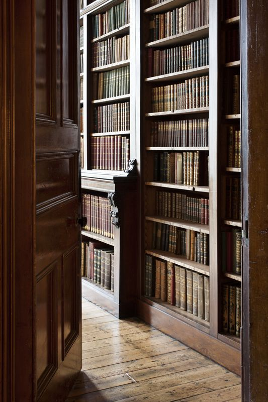 The other (main) reason why I'd love an old house  Library, Clonalis House, Co. Roscommon.