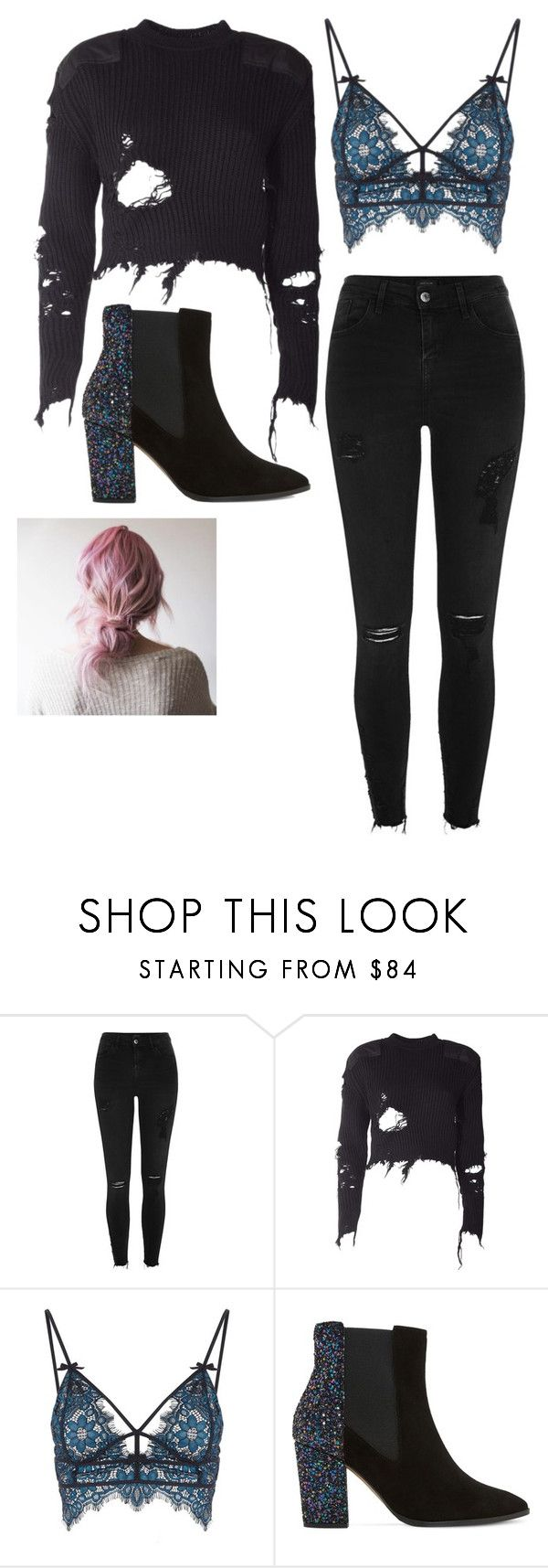 """""""Interview"""" by katmccaf ❤ liked on Polyvore featuring River Island, adidas Originals, For Love & Lemons and Dune"""