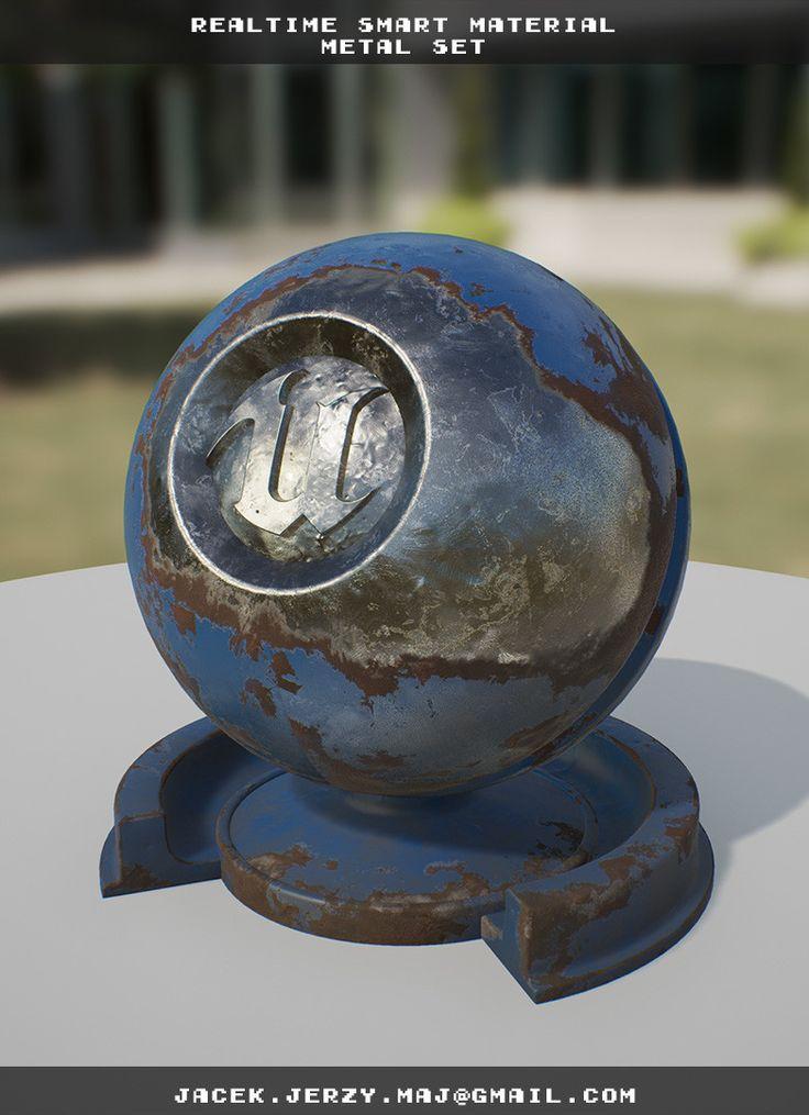ArtStation - Realtime Smart Materials Metal Set, Jacek Maj