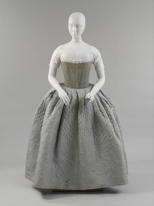 Stays and quilted petticoat  American  2nd 1/218th C.    Met