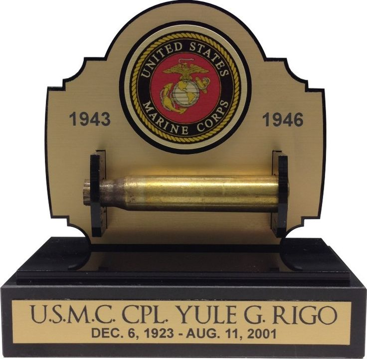 21 GUN SALUTE GUN SHELL CASING DISPLAY