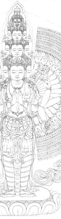 Avalokiteshvara, bodhisattva of compassion ©Robert Beer