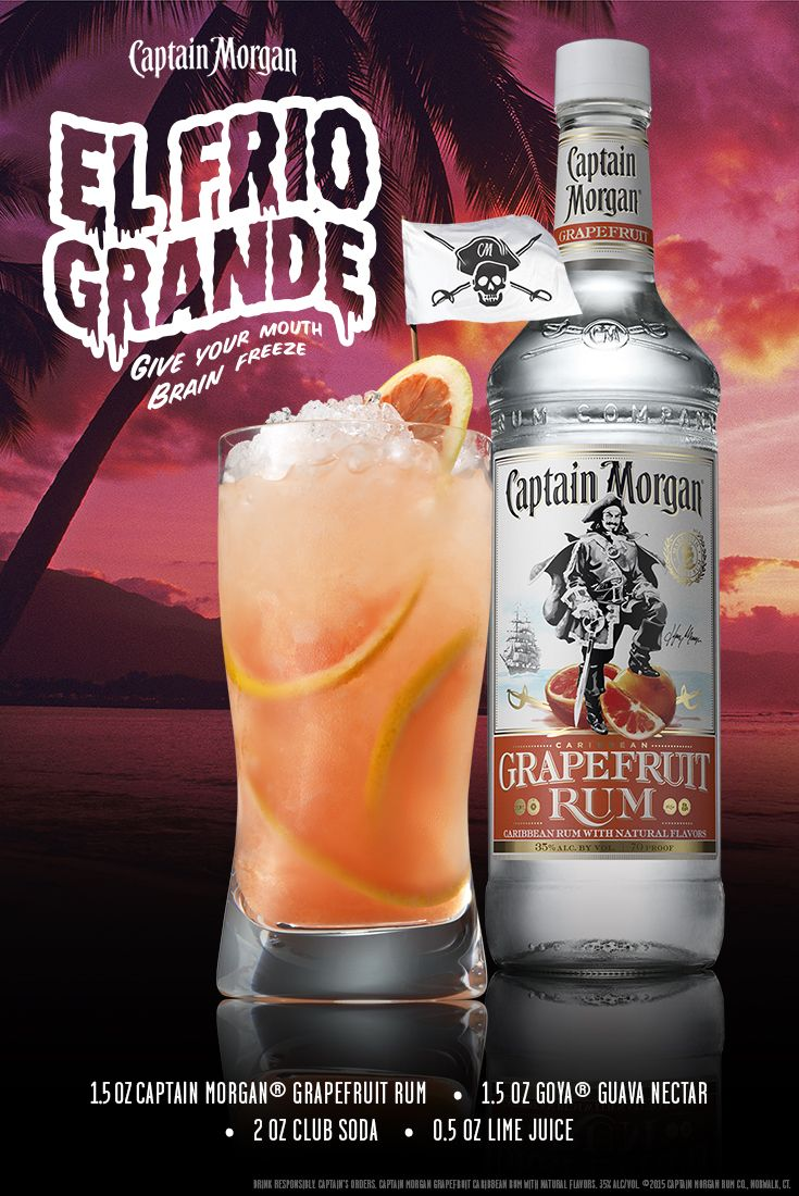Beat that summer heat with El Frio Grande a.k.a the big freeze a.k.a. just have one now. This Captain Morgan Grapefruit recipe is sooo good (it's my rum, trust me). #SunsOutRumsOut