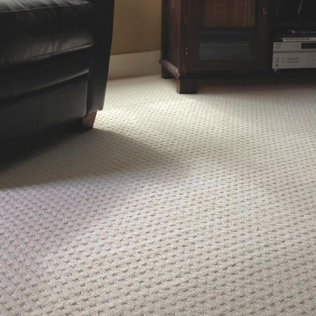Waffle pattern carpet installed! Good patterned carpet for high reaffirm areas
