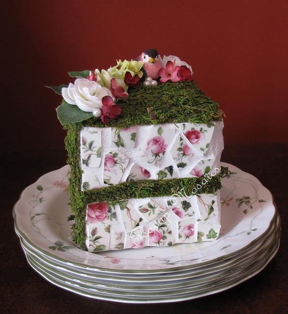 Garden Mosaic Cake by teacup mosaics, via Flickr