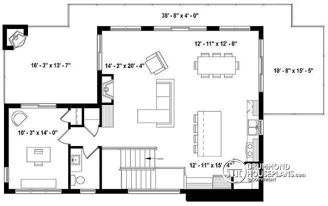 Discover The Plan 3891 Oslo Which Will Please You For Its 3 4 Bedrooms And For Its Scandinavian Styles House Plans Drummond House Plans Country Style House Plans