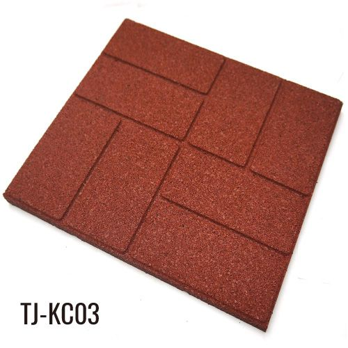 50cm*50cm Outdoor Recycled Rubber Tiles Patio Pavers