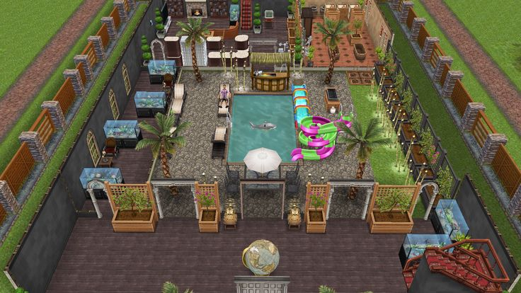 My Sims Free Play   Sterling Archeru0027s Sexy Summer Hideout: Front Entrance  (2/