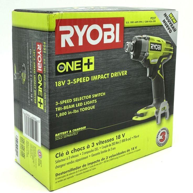 Ryobi P237 18V ONE Plus 3 Speed 1-1/4 In Impact Driver in Box Bare Tool Only   #RYOBI