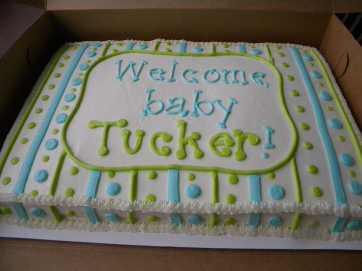 Baby Boy Shower Sheet Cake