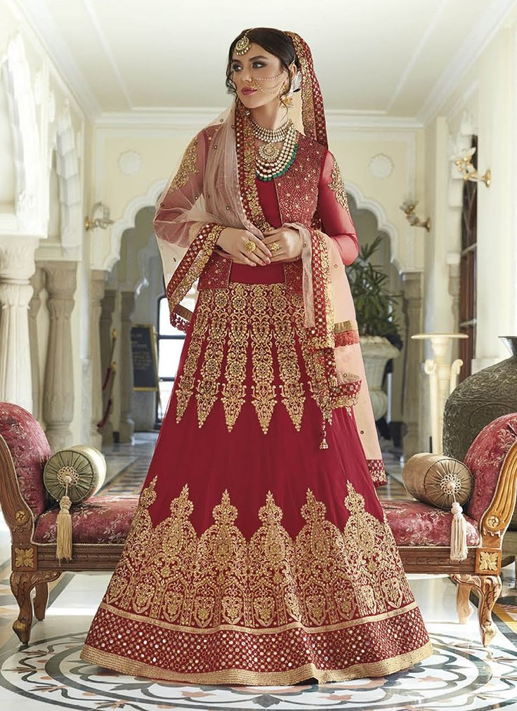 Red Heavy Embroidered Designer Anarkali Suit  https://www.ranafashions.in/salwar-suits/red-heavy-embroidered-designer-anarkali-suit-4684.html