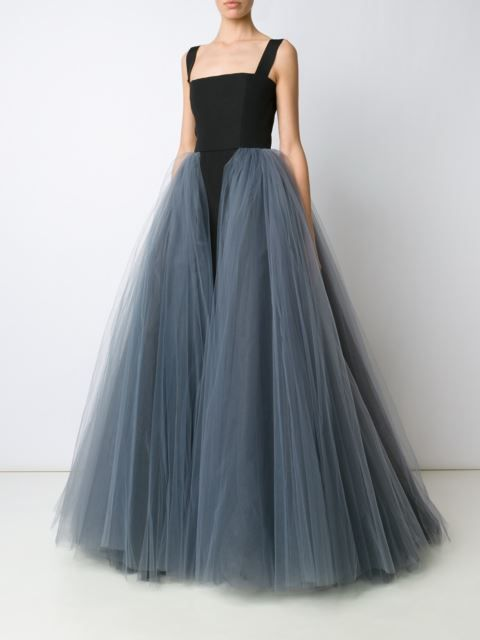 Christian Siriano robe à design superposé en tulle