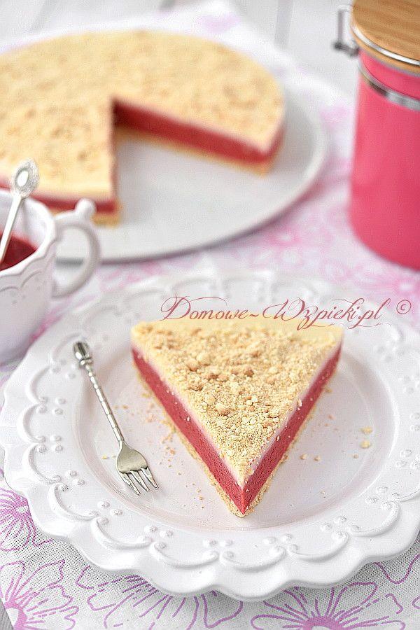 Ciasto malinowo- waniliowe bez pieczenia