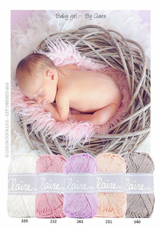 Kleurinspiratie Baby girl / ByClaire