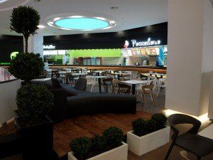 Braila Mall shopping mall, Romania  #shoppingmall #bdscontract #foodcourt #contractfurniture