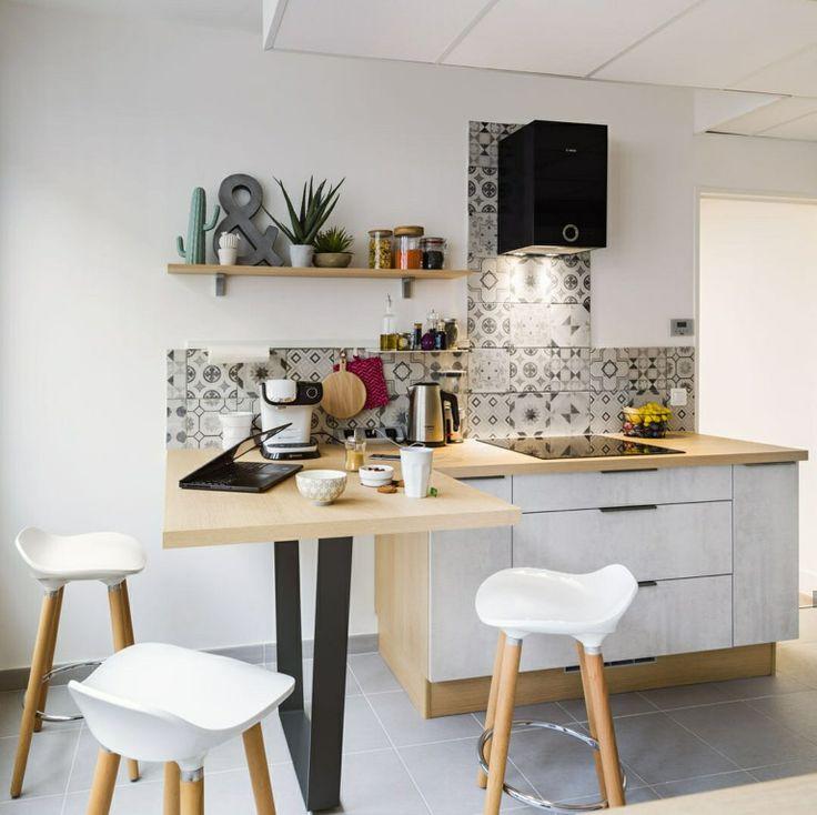 9 best Cuisines, petits espaces images on Pinterest Kitchens - amenagement placard d angle cuisine