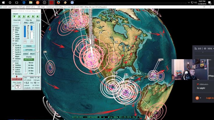 12/28/2016 -- Nightly Earthquake update + forecast -- West Coast volcanic swarm -- Midwest Watch - YouTube