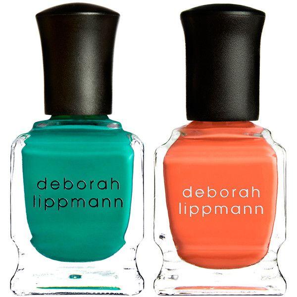 Deborah Lippmann Nail Polish Duo ($15) ❤ liked on Polyvore featuring beauty products, nail care, nail polish, nails, cosmetics, beauty, no color, deborah lippmann, orange nail polish and deborah lippmann nail lacquer