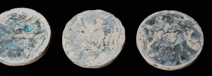 Cloudy Earth Coasters - For East London Design Show
