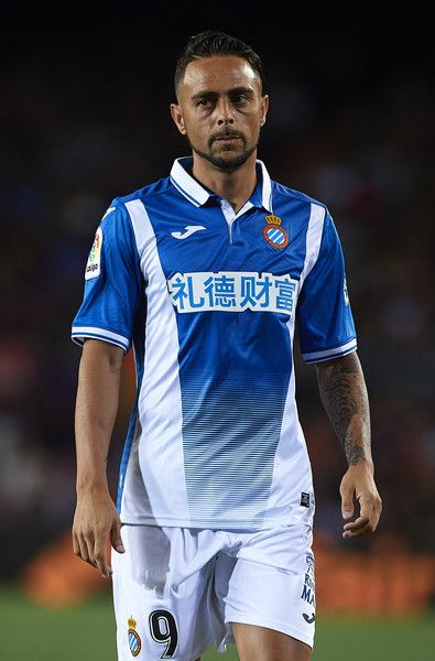 Sergio Garcia of Espanyol looks on during the La Liga match between Barcelona and Espanyol at Camp Nou on September 9, 2017 in Barcelona.