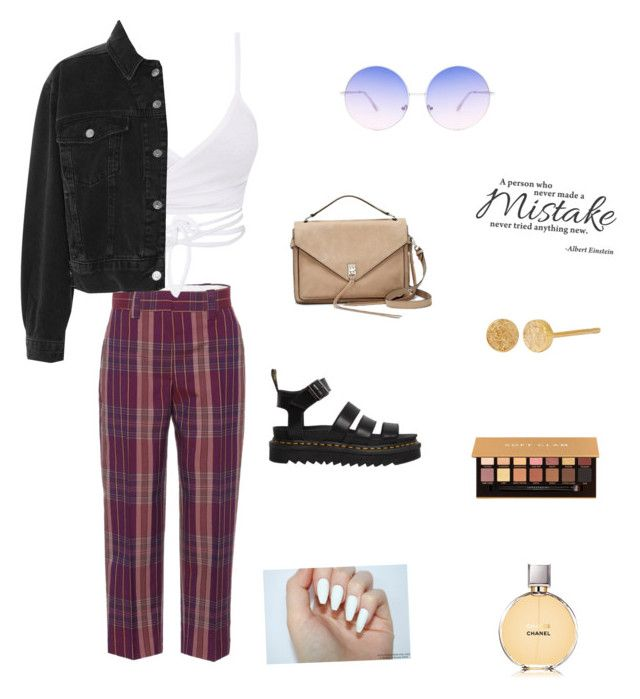 """Untitled #903"" by dulce345 ❤ liked on Polyvore featuring Acne Studios, Topshop, Dr. Martens, Rebecca Minkoff, Allison Bryan, Anastasia Beverly Hills and Chanel"