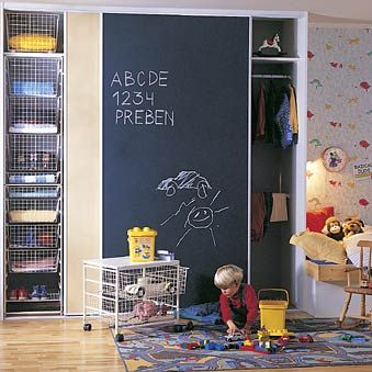 This is what we are doing in baby C's room chalkboard paint on the closet doors  :)