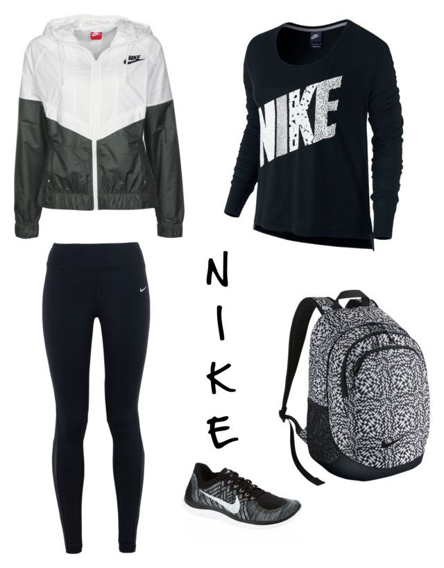 """""""The Nike Look #2"""" by achippy ❤ liked on Polyvore featuring NIKE, women's clothing, women's fashion, women, female, woman, misses and juniors"""