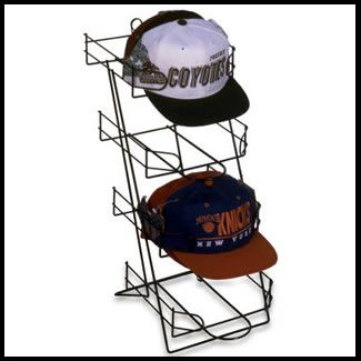 Counter Baseball Cap Rack | Holds 48 Caps On One Small Rack