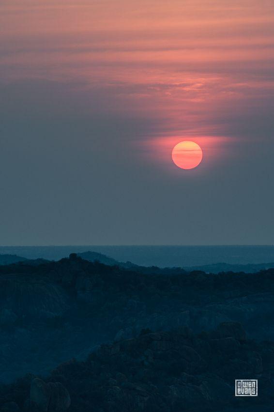 Matobo sunset from Rhodes' grave