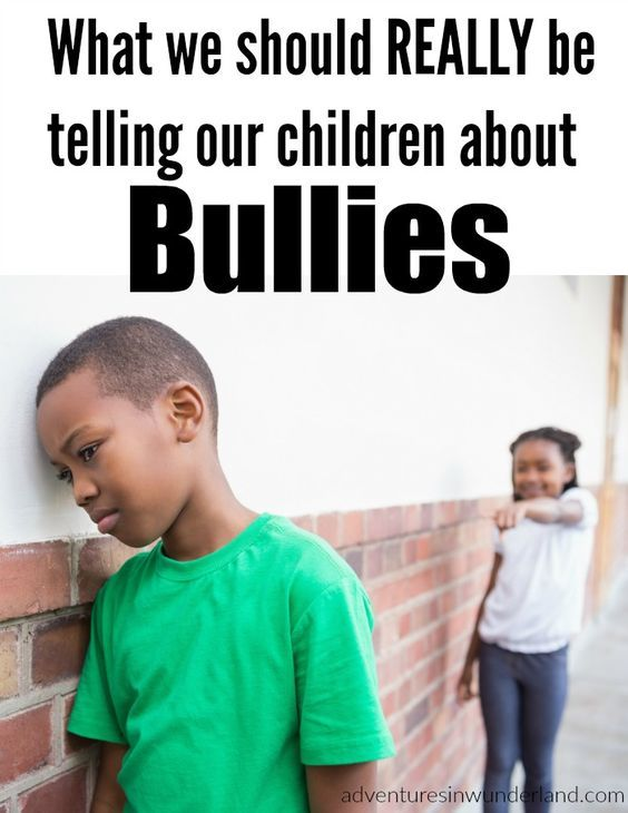 we can help our children that have been the victims of bullies! This is what you should be telling your child about bullies