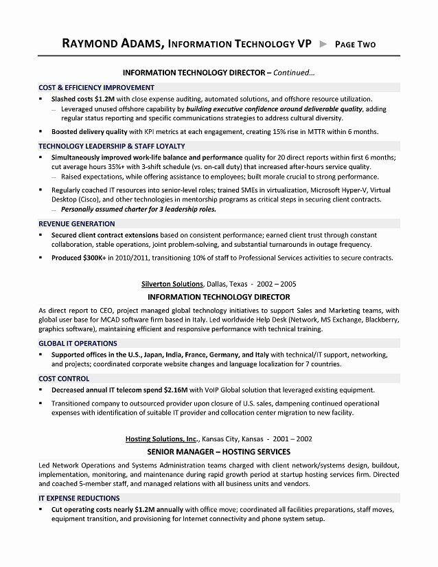 Director Of Technology Resume Elegant Director Information Technology Resume Resume Sample Resume Writer Executive Resume Human Resources Resume
