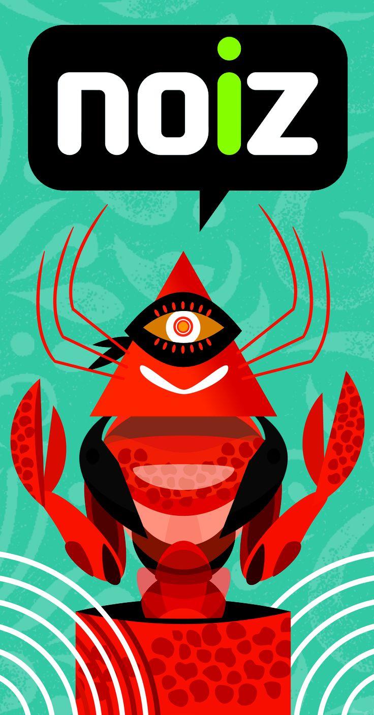 portada para noiz agenda, ilustracion ( lapiz + freehand )