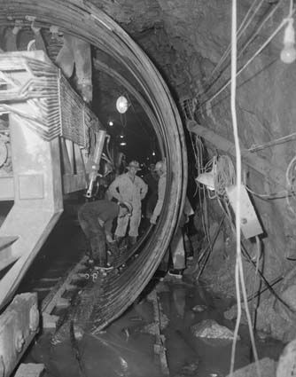 Hans Meli and Robert Eglitis in 1960, working on the Snowy Mountains Hydro Electric Scheme.