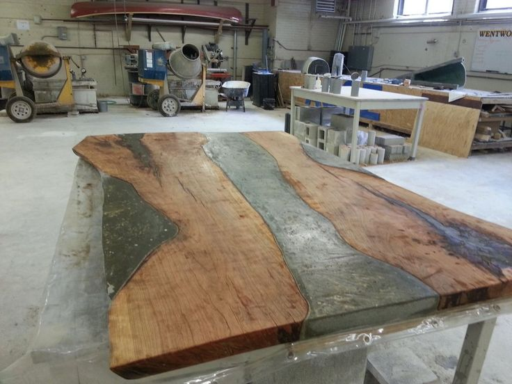 Concrete and Cherry wood table