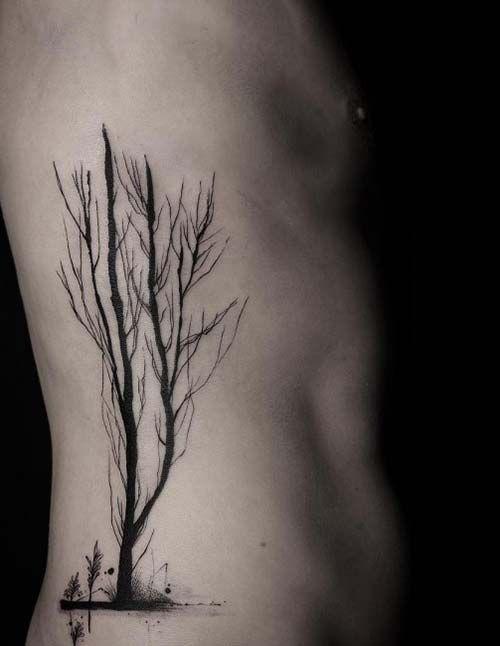 ağaç dövmesi bel tree tattoo on belly
