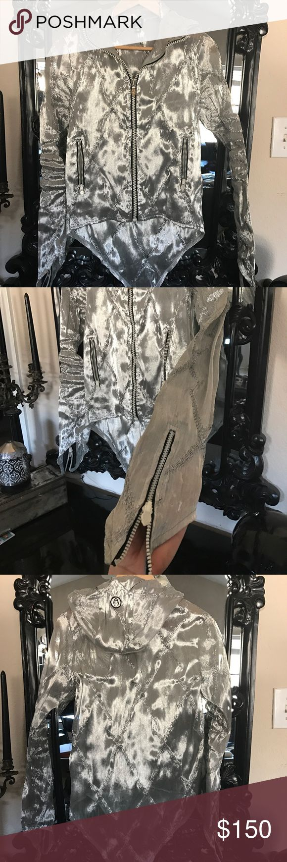 Limited Cyberdog Mesh Silver hoodie Limited RARE Cyberdog Mesh Silver hoodie. This item is extremely rare and bought at Cyberdog retail clothing store in London UK. It's a size small but fits a medium. Worn once and in excellent condition. cyberpunk cyberdog Jackets & Coats