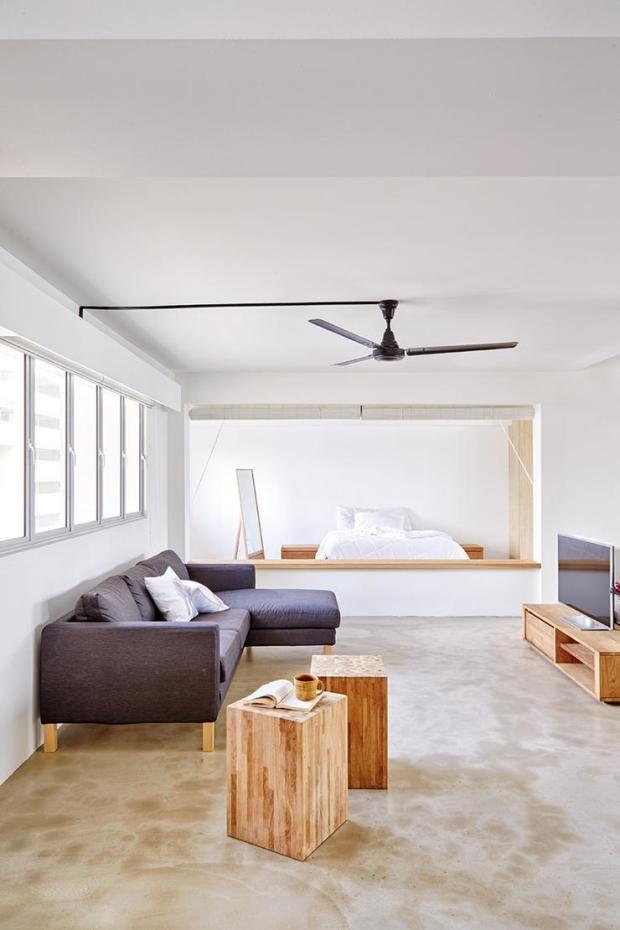 Minimalist HDB flat in Singapore by Desmond Ong