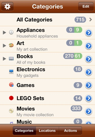My favorite inventory app to date is Jonas Petersson's Inventory app for Android.  But my favorite iOS inventory app (and I have demo'd 12) is definitely MyStuff2 - Home Inventory and Database iPhone and iPad app by Rick Maddy. Genre: Productivity application. Price: $4.99.   The amazon integration and manual barcode input option (essential because ISBNs are always changing) makes this key.